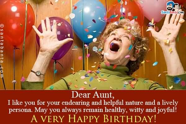 Birthday Wishes Dear Auntie Image