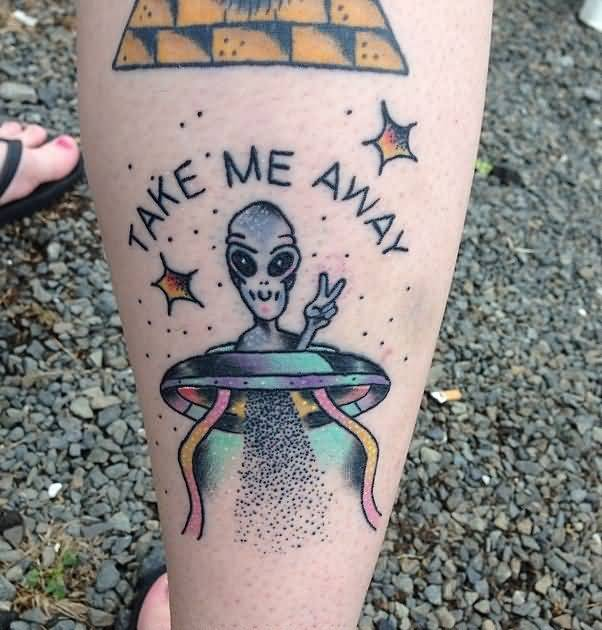Alien Tattoos Designs Ideas And Meaning: 45 Mesmerizing Alien UFO Tattoo Designs, Ideas & Photos