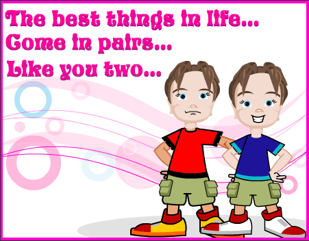 Best Birthday Greetings For Twins Wishes Image Png 451x352 Happy Cards