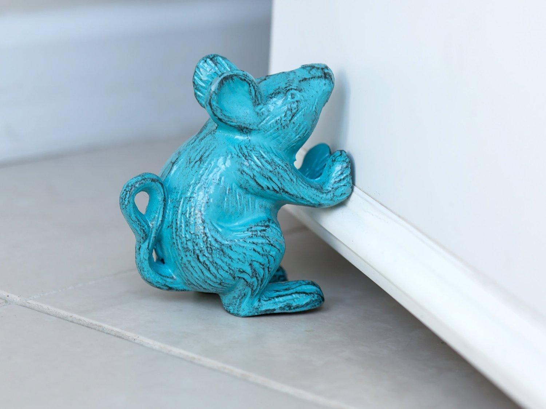 Cast Iron Mouse Decorative Door Stop 001 Picsmine