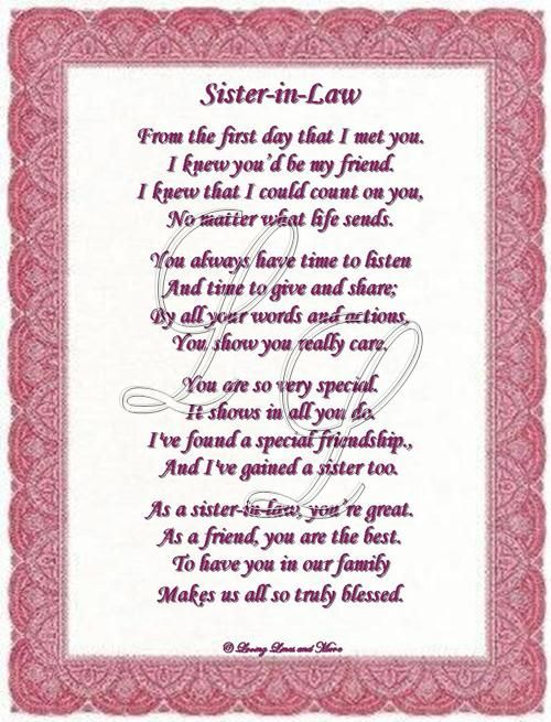 49 Best Sister In Law Quotes, Quotations & Sayings | PICSMINE
