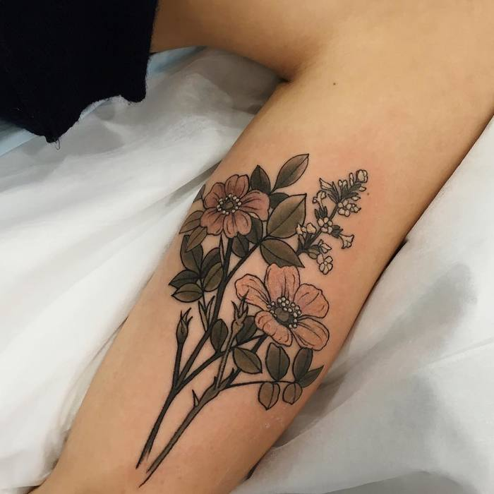 26 nature inspired neo traditional tattoos by sophia baughan picsmine. Black Bedroom Furniture Sets. Home Design Ideas