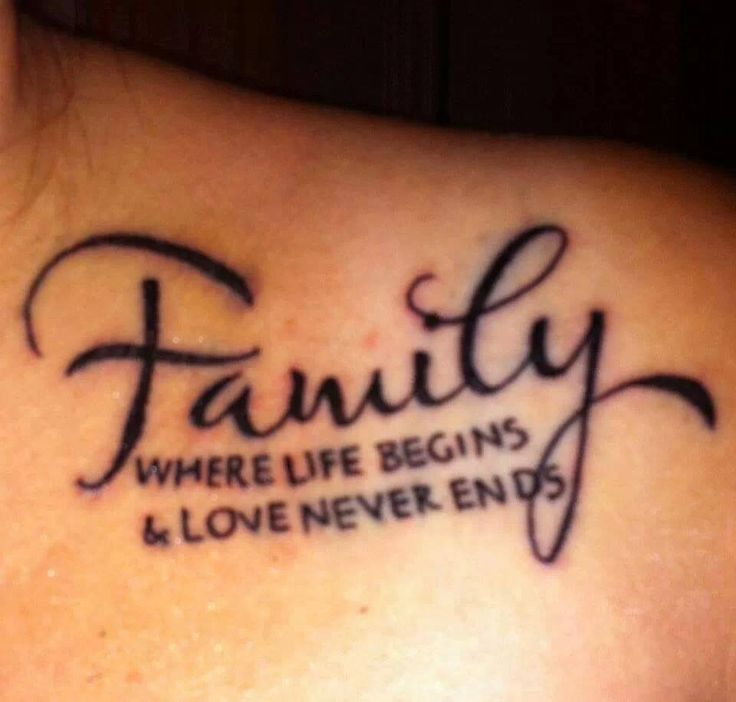 Short Family Quote Tattoos Images and Photos | PICSMINE