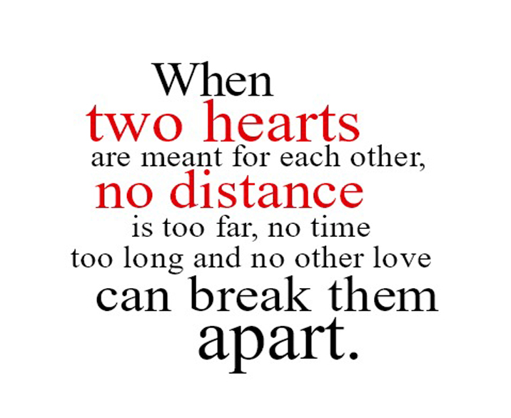 Love messages and distance Long Distance